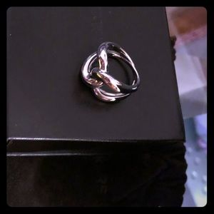 Micheal Kors Silver Twist Knot Ring size 6